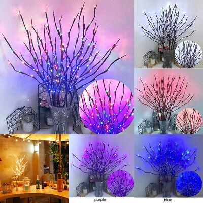 £6.69 • Buy 20 LED Branch Twig Lights Light Up Willow Tree Branches Christmas Decor 74cm HOT