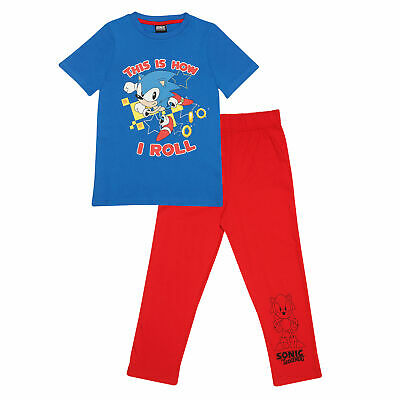 £15.99 • Buy Boys Sonic The Hedgehog Long Pyjamas Set This Is How I Roll Official Red