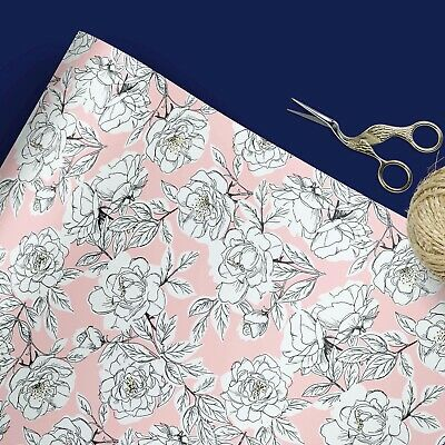 £4.26 • Buy Pink Floral Wrapping Paper | Gift Wrap | Wrapping Paper | Luxury Wrap | Easter