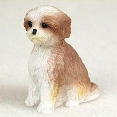 £7.24 • Buy SHIH TZU BROWN WHITE PUP CUT TINY ONES DOG Figurine Statue Pet Lovers Gift Resin