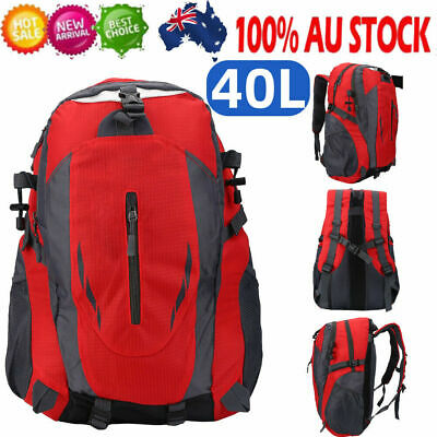 AU16.52 • Buy 40L Light Foldable Waterproof Outdoor Sports Backpack Camping Hiking Travel Bag