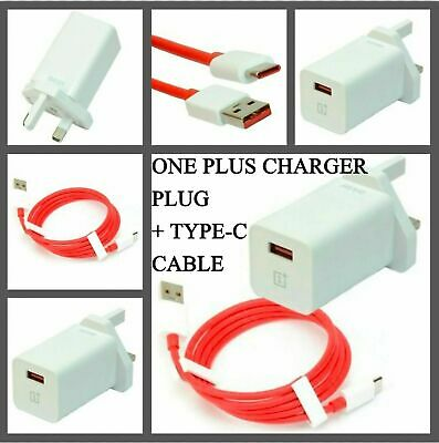 AU26.82 • Buy ORIGINAL OnePlus 6T 6 5T 5 3T Fast Charger Adapter DASH UK Plug USB C Cable