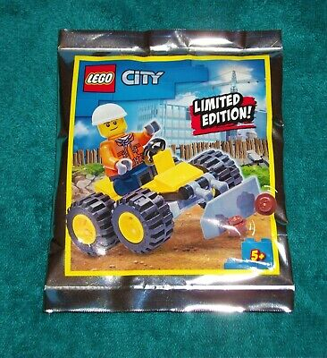 £3.99 • Buy LEGO CITY: Construction Worker With Bulldozer Polybag Set 952003 BNSIP