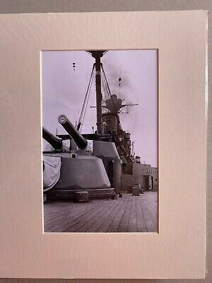£28 • Buy HMS Warspite Real Naval Photograph Royal Navy Battleship Main Armament Forward