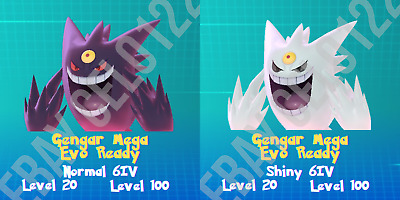$1.99 • Buy Gengar Normal / ⚡shiny⚡ Perfect 6iv - Pokemon Lets Go Pikachu And Eevee
