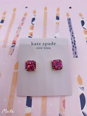 $ CDN31.11 • Buy BN Kate Spade Glistering Stud Earrings - Hot Pink - Sale Price