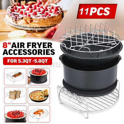 AU21.19 • Buy  8 Inch Air Fryer Accessories Cake Pizza BBQ Roast Barbecue Baking Pan Tray