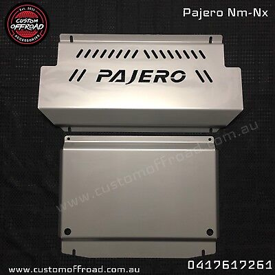 AU300 • Buy Custom Offroad NM-NX Pajero 2 Piece Stainless Bash Plate -3mm