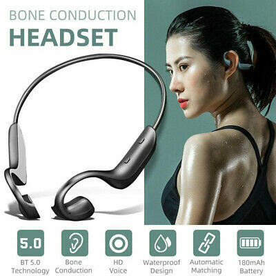 AU20.39 • Buy Bone Conduction Wireless Headphones Bluetooth 5.0 Sports Headset IOS Android AU