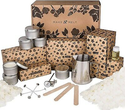 £29.99 • Buy MAKE&MELT Candle Making Kit For Adults With Soy Wax