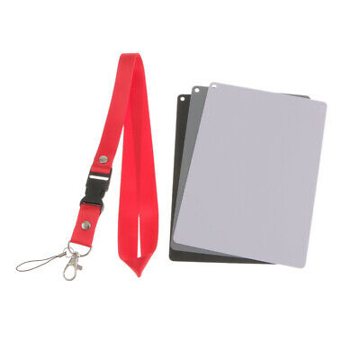 £6.63 • Buy 3 In 1 Digital White Black Grey Balance Cards 18% Gray Card With Neck Strap