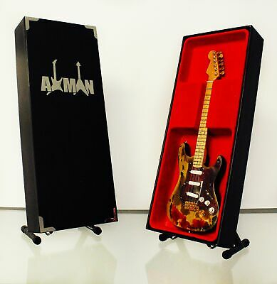 $ CDN47.69 • Buy Jimi Hendrix Burnt Miniature Guitar Replica With Display Case And Stand