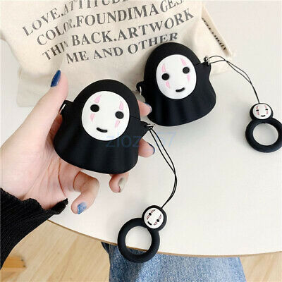 AU16.06 • Buy Cute Cartoon Black Earphone Bag Cover For Apple Airpods 1/2 Pro Case Gift