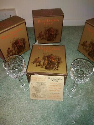 Royal Doulton - Full Lead Crystal Goblets X 6pcs (never Used) - Wine Glass  • 70£