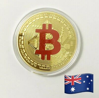 AU5.19 • Buy Bitcoin Commemorative Round Collectors Coin Bit Coin Is Gold Plated$