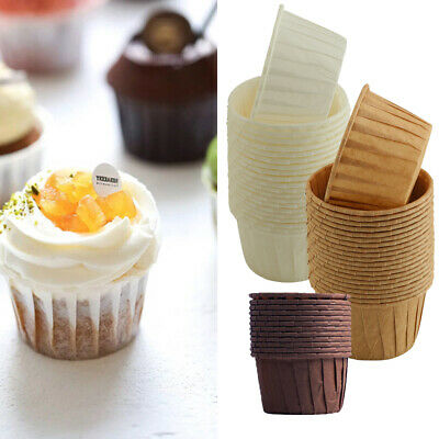 £4.55 • Buy 50x Muffins Paper Cupcake Wrappers Baking Cups Cases Muffin Boxes Cake Cup