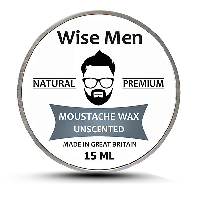 £2.99 • Buy Unscented Original Moustache Wax For Men 15ml   Natural Hard Styling Wax   UK