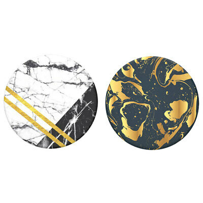 AU15 • Buy 2pc PopSockets Swappable Top Art Deco Marble/Gilded Swirl F/Grip Base Pop Socket