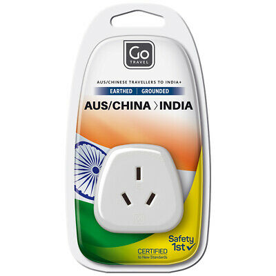 AU7 • Buy Go Travel 3 Pin Plug Wall Power Outlet Socket AUS/NZ/CHINA To INDIA Adapter