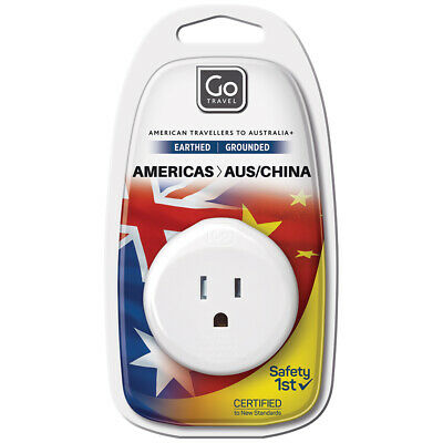 AU6 • Buy Go Travel 3 Pin Plug Wall Power Outlet Socket USA To AUS/NZ/CHINA Adapter