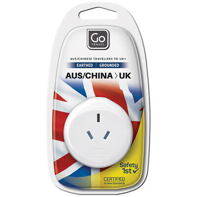 AU6 • Buy Go Travel 3 Pin Plug Wall Power Outlet Socket AUS/NZ/CHINA To UK Adapter