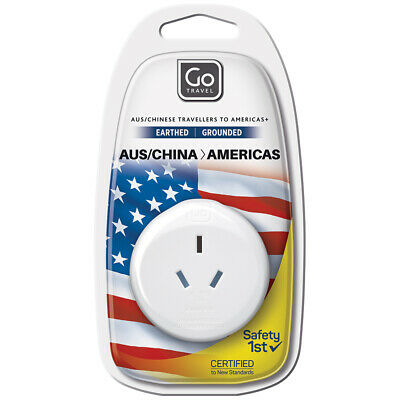 AU6 • Buy Go Travel 3 Pin Plug Wall Power Outlet Socket AUS/NZ/CHINA To USA Adapter