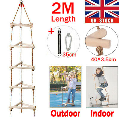 £21.96 • Buy Tree Climbing Rope Ladder Swing Set 3D Triangle Indoor Outdoor Garden Sports Toy