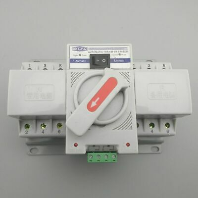 £53.23 • Buy 3P 63A 380V 50/60hz 3 Wire MCB Type Dual Power Automatic Transfer Switch ATS