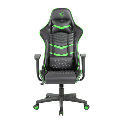 AU278 • Buy Pure Acoustics Spider Iron Computer/Gaming Chair Back/Neck Support/Cushion Green