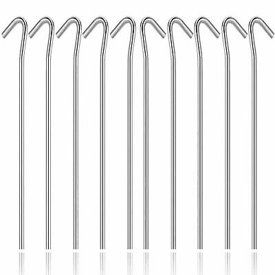 £7.99 • Buy Heavy Duty Galvanized Steel Tent Pegs Metal Camping Ground Sheet Anchor UK