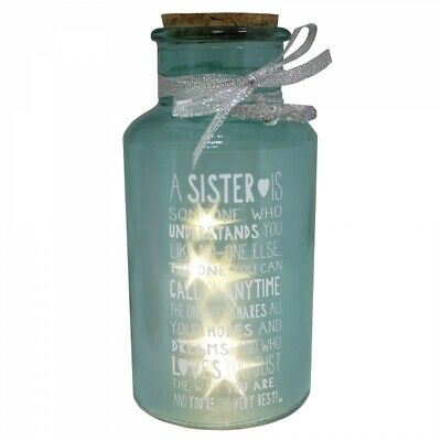 £9.99 • Buy Special Sister Light Up Jar Messages Of Love Gift Range Birthday Christmas Gifts