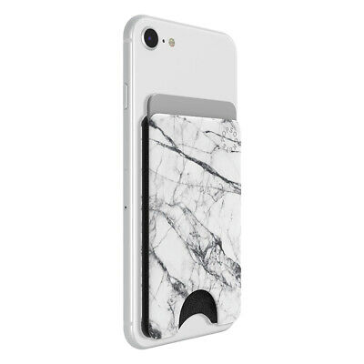 AU29.95 • Buy Popsockets Dove White Marble PopWallet Card Holder/Swappable PopGrip For Phone