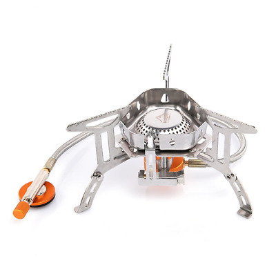 £24.78 • Buy Wind Proof Outdoor Gas Burner Camping Stove Lighter Tourist Equipment Kitchen