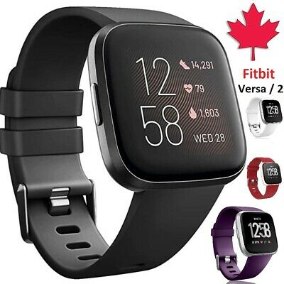 $ CDN5.95 • Buy For Fitbit Versa 2 1 Lite Band Replacement Silicone Wristband Strap Wrist Sport
