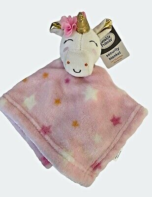 Luvable Friends Pink Unicorn Gold Horn Plush Security Baby Blanket Lovey NWT • 13.09£