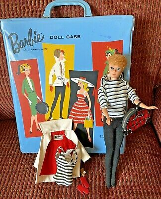 $ CDN151.15 • Buy Vintage 1958 Ponytail Barbie Doll With Winter Holiday Outfit And Case