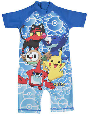 £6.95 • Buy Pokemon Boys Sun Suit Kids Pikachu All In One Swimsuit Beach Pool Holiday Size