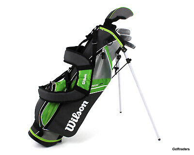 AU229 • Buy New Wilson Deep Red Junior Green Golf Package Ages 5-8 H4858