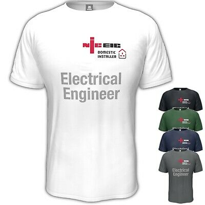 £10.95 • Buy NICEIC T-Shirt Domestic Installer Electrician Electrical Engineer S - 5XL