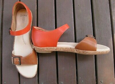 AU120 • Buy Ziera Sandals Coral And Tan Size 40 W - EC As New