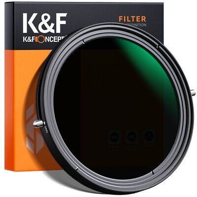 """AU73.99 • Buy K&F Concept 49-82mm Variable ND2-32+ CPL Filter 2 In 1 Function No """"X"""" Cross"""