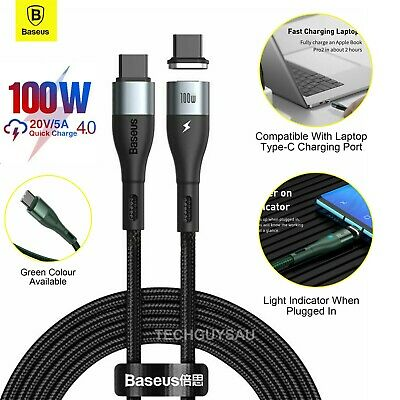 AU15.90 • Buy BASEUS 100W Magnetic USB-C To Type-C Cable Fast Charging Cord Samsung Macbook