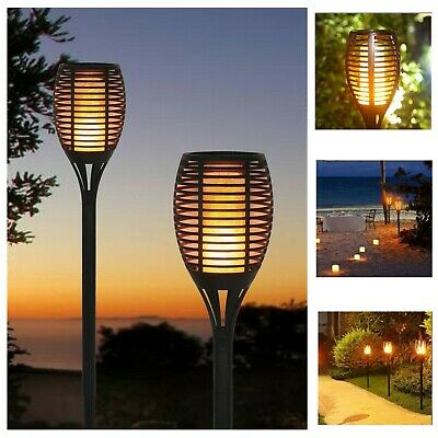 £11.99 • Buy Solar Dancing Flame LED Torch Stake Flickering Outdoor Garden Lights 1 / 2 / 4