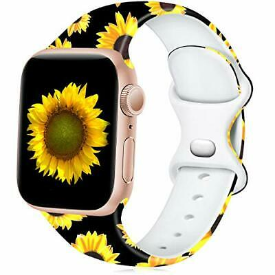 $ CDN17.48 • Buy Apple Watch Band 38mm 40mm S/M IWatch SE Series 6 5 4 3 2 1 Silicone, Sunflower