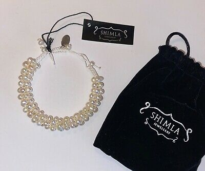 £5 • Buy Pearl Bracelet By Shimla Jewelery - New Boxed With Pouch