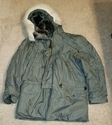 $64.39 • Buy Us Army Military Hooded Extreme Cold Weather Parka Type N-3b Sz Small Smoke Free