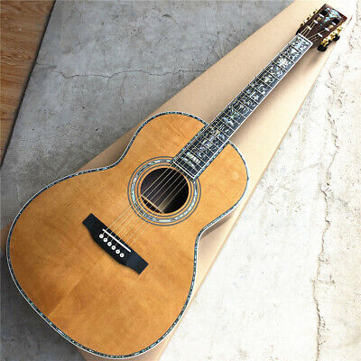 $748 • Buy All Solid Wood 39 Inch 000 Style Acoustic Guitar Abalone Ebony Fingerboard