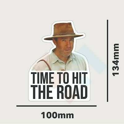 AU4.99 • Buy Time To Hit The Road Russ Coight Sticker Decal Funny 4x4 Outback NT Aussie Ute