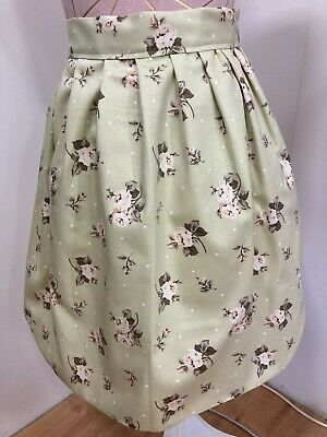 £12.99 • Buy Luxury Apron, Half Pinny Style, Handmade, One Size, Sage Green Floral