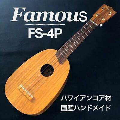 AU444.39 • Buy Famous FS-4P Soprano Pineapple Ukulele Instrument Japan Hawaiian Koa Wood Used